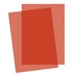Обложки для переплета пластиковые Fellowes Transparent, А4, 200 мкм, 100шт, красные