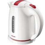 Чайник электрический Philips HD 4646, 1.5 л, 2400 Вт, бело-красный