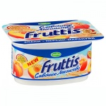 Йогурт Fruttis Сливочное лакомство, 5%, 115г, персик/маракуйя