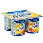 Йогурт Fruttis Сливочное лакомство, 5%, 115г, дыня-манго,  банан-клубника