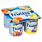 Йогурт Fruttis Сливочное лакомство, 5%, 115г, персик-маракуя,  ананас-дыня