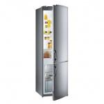 Холодильник двухкамерный Gorenje RKV42200E 285л, серебристый, 54x60x179.5см