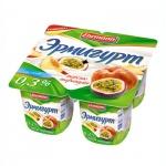 Йогурт Эрмигурт Легкий персик-маракуйя, 0.3%, 4х115г