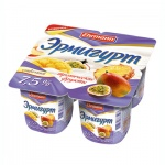 Йогурт Эрмигурт Сливочный, 7.5%, 4х115г, тропические фрукты