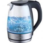 Чайник электрический Polaris PWK 1729CGL металл/стекло, 1.7 л, 2200 Вт
