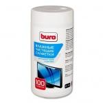 Салфетки чистящие для мониторов Buro BU-Tscrl 100 шт/уп, в тубе