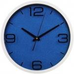 Часы настенные Hama бело-синие, d=30см, круглые, PG-300