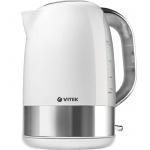 Чайник электрический Vitek 1125-VT-01 белый, 1.7 л, 2400 Вт