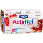 Кисломолочный напиток Actimel натуральный, гранат  100г х 8шт