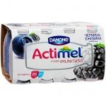 Кисломолочный напиток Actimel натуральный, черника/ежевика  100г х 8шт