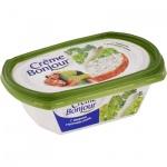 Сыр творожный Creme Bonjour 27%, 200г, с зеленью