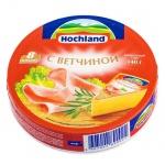 Сыр плавленый Hochland, 55%, 140г, с ветчиной