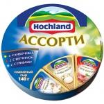 Сыр плавленый Hochland, 55%, 140г, сливочный,  с ветчиной  с грибами