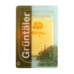 Сыр в нарезке Gruntaler 30% Fenugreek с пажитником, 250г, Россия