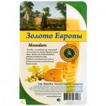 Сыр в нарезке Золото Европы 45% Маасдам, 150г