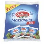 Сыр мягкий Galbani 45% Mozzarella Tris, 425г