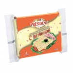 Сыр плавленый President Мастер Бутерброда, 40%, 150г, с ветчиной