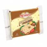 Сыр плавленый President Мастер Бутерброда, 40%, 150г, с грибами