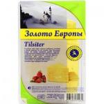 Сыр в нарезке Золото Европы 45% Тильзитер, 500г