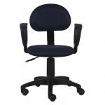 Кресло офисное Бюрократ CH-213AXN ткань, черная, синяя, крестовина пластик