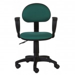 Кресло офисное Бюрократ CH-213AXN ткань, зеленая, крестовина пластик