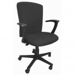 Кресло офисное Бюрократ CH-470AXSN ткань, черная, крестовина пластик