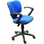 Кресло офисное Бюрократ CH-540AXSN ткань, крестовина пластик, низкая спинка, синее
