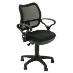 Кресло офисное Бюрократ CH-799AXSN ткань, черная, крестовина пластик, черное
