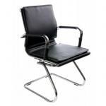 Кресло посетителя Бюрократ CH-993-LOW-V иск. кожа, на полозьях, черное
