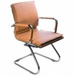 Кресло посетителя Бюрократ CH-993-LOW-V иск. кожа, на полозьях, светло-коричневое