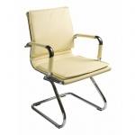 Кресло посетителя Бюрократ CH-993-LOW-V иск. кожа, на полозьях, слоновая кость