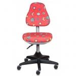 Кресло детское Бюрократ KD-2 ткань, красная, божьи коровки, крестовина пластик