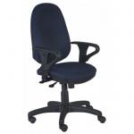 Кресло офисное Бюрократ T-612AXSN ткань, крестовина пластик, темно-синее