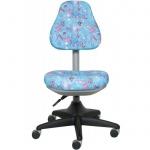 Кресло детское Бюрократ KD-2 ткань, крестовина пластик, голубое