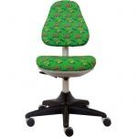 Кресло детское Бюрократ KD-2 ткань, крестовина пластик, зеленое