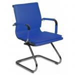Кресло посетителя Бюрократ CH-993-LOW-V иск. кожа, на полозьях, синее