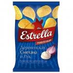 Чипсы Estrella, 85г, Сметана/Лук