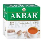 Чай Akbar Китайский, зеленый, 100 пакетиков