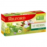 Чай Milford 12 трав, травяной, 20 пакетиков