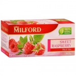 Чай Milford Sweet Raspberry, травяной, 20 пакетиков
