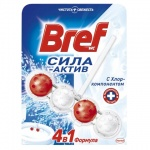 Освежитель для унитаза Bref Сила-актив с хлором, 51г, подвесной блок