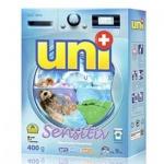 Стиральный порошок Uniplus Sensitiv 0.4кг, для машинной стирки, концентрат