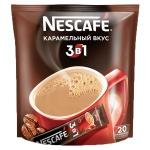 Кофе порционный Nescafe Карамель 3в1 20шт х 20г, растворимый, пакет