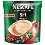 Кофе порционный Nescafe Крепкий 3в1 20шт х 16г, растворимый, пакет