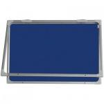 Доска текстильная 2x3 GT 2129 120х90см, синяя, алюминиевая рама, интерьерная