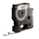 Картридж для принтера этикеток Dymo S0718040 D1, 12мм х 3.5м, белый с черными буквами, пластик
