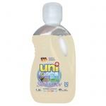 Гель для стирки Uniplus Sensitiv 1.5л, для белого и цветного белья