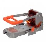 Дырокол Rapid Supreme до 300 листов, серебристо-оранжевый, HDC300