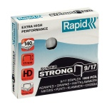 Скобы для степлера Rapid Super Strong 1M, стальные, 1000 шт, №9/17