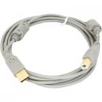 Кабель USB 2.0 Buro A-A (m-f) 1.8 м, позолоченные контакты, прозрачный